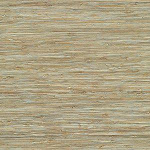 2622-65437 Patryk Grasscloth Aqua Brewster Wallpaper