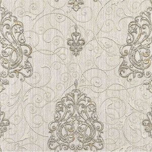 Z1752 Dis Zeno Damask White Brewster Wallpaper