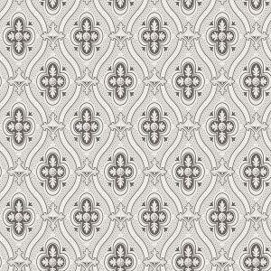 2827-4525 Pigkammaren Ogee Dark Brown Brewster Wallpaper