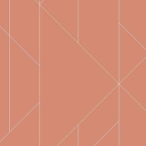 2889-25201 Torpa Geometric Coral Brewster Wallpaper