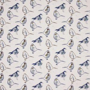 BIRD BATH Regal Blue Carole Fabric