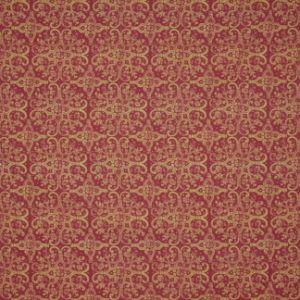 PRESS BADGE Antique Red Carole Fabric
