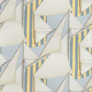2018136-405 ST TROPEZ PRINT Blue Yellow Lee Jofa Fabric