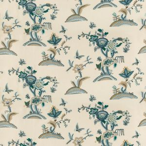 2018138-355 CAMBRIA CREWEL Slate Teal Lee Jofa Fabric