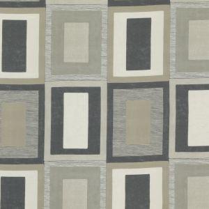 ED75026-2 MORO Linen Charcoal Threads Fabric