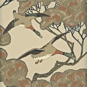 FG066-K102 FLYING DUCKS Stone Mulberry Home Wallpaper