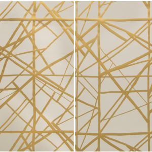 GWP-3302-424 NEW CHANNELS PAPER Copper Beige Narrow Groundworks Wallpaper