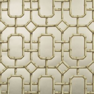 W3404-416 BAMBU FRET Pewter Kravet Wallpaper