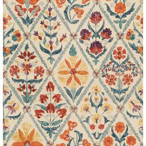 2010120-125 SUSANI TRELLIS Orange Blue Lee Jofa Fabric