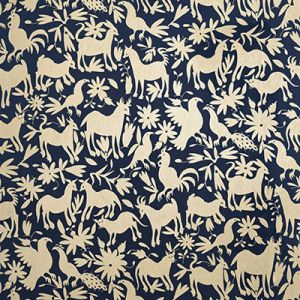 AMW10053-450 OTOMI Midnight Kravet Wallpaper