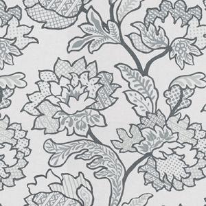 GEO FLORAL-11 Platinum Kravet Fabric