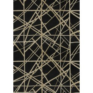 GWF-3731-811 CHANNELS VELVET Onyx Almond Groundworks Fabric