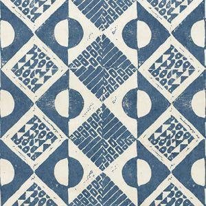 PBFC-3519-5 CIRCLES AND SQUARES WP Azure Lee Jofa Wallpaper