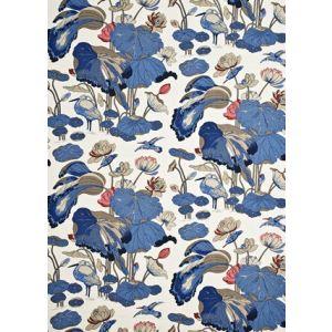 R1206-9 NYMPHEUS LINEN Indigo Marine/Linen GP & J Baker Fabric