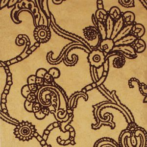 FG057-T49 MARQUISE DAMASK FLOCK Gold Plum Mulberry Home Wallpaper