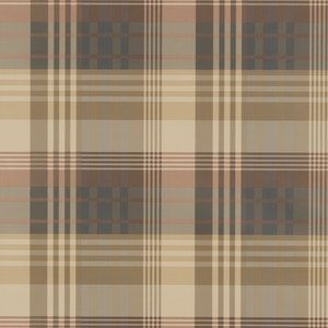 FG079-V78 MULBERRY ANCIENT TARTAN Red Charcoal Mulberry Home Wallpaper