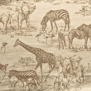ZAMBIA 1 Taupe Stout Fabric