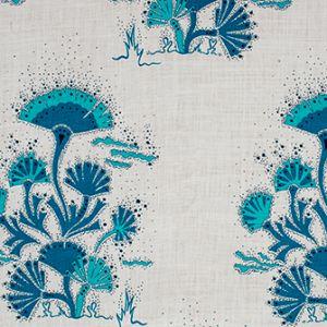SEAWEED Cobalt Katie Ridder Fabric