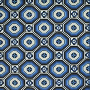 LFY68650F FORNILLO EMBROIDERY Mosaic Blue Ralph Lauren Fabric