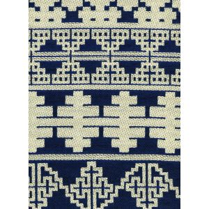 010955T ADOBE HANDSTITCH Navy Ecru Quadrille Fabric