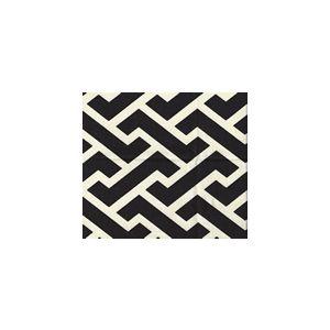 6345-19SUN AGA REVERSE Black  Quadrille Fabric