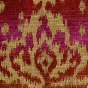 010900T ALY KHAN Multi Magenta Quadrille Fabric