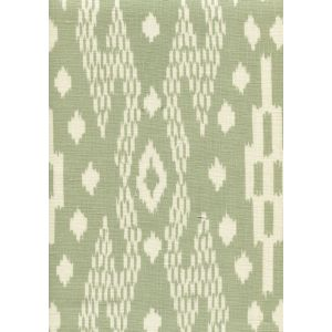 7610-04 ANDROS BATIK Sage on Tinted Linen Custom Only Quadrille Fabric