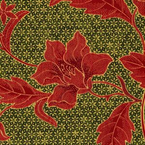 6550-02 ANTIK BATIK Greens Terracotta Quadrille Fabric