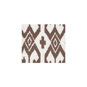 7230-06 AQUA II Brown on White Quadrille Fabric