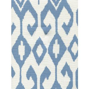 7230-08 AQUA II French Blue on White Quadrille Fabric