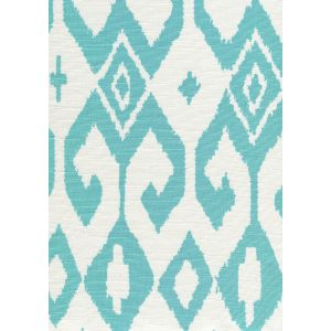7230-04 AQUA II Turquoise on White Quadrille Fabric
