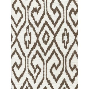 7240-06 AQUA IV Brown on White Quadrille Fabric