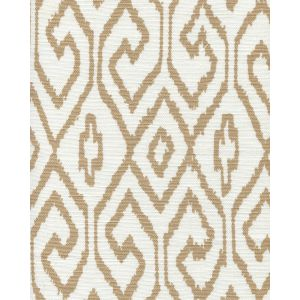 7240-01 AQUA IV Camel on White Quadrille Fabric