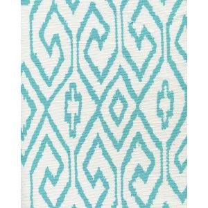 7240-04 AQUA IV Turquoise on White Quadrille Fabric