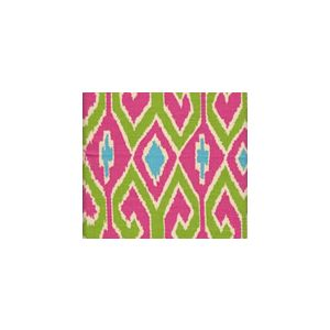 7210-03 AQUARIUS Jungle Green Pink on Cream Quadrille Fabric