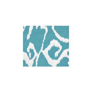 2430SU-31WSUN BALI II Turquoise on White Quadrille Fabric