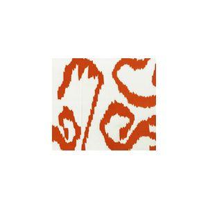 2435-45WSUN BALI ISLE Orange on White Quadrille Fabric