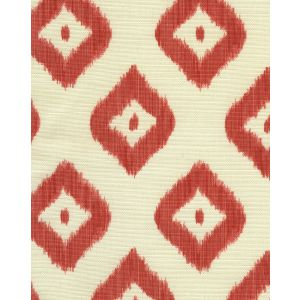 9040-07 BALI DIAMOND Coral on Tint Quadrille Fabric