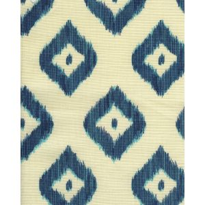 9040-06 BALI DIAMOND Multi Blues on Tint Quadrille Fabric
