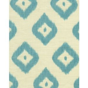 9040-03 BALI DIAMOND Turquoise on Tint Quadrille Fabric