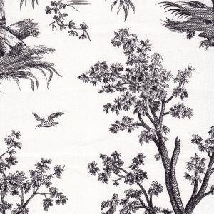 4257-106 BALLON DE GONESSE TOILE Noir Quadrille Fabric