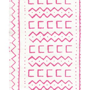 AC980-07 BEAU RIVAGE Magenta on Oyster Quadrille Fabric