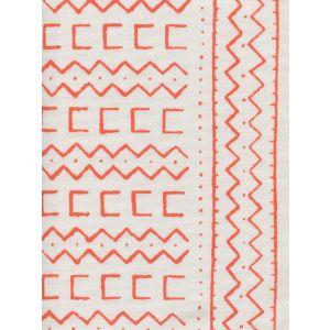 AC980-06WSUN BEAU RIVAGE Orange on White Suncloth Quadrille Fabric