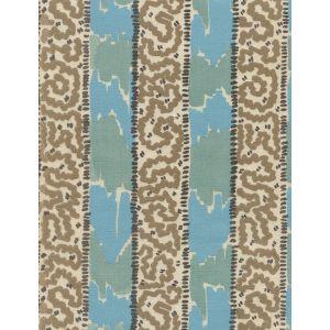 5060-03SUN BIJOU STRIPE New Blue Brown Taupe Quadrille Fabric