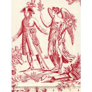 2428-01 BONAPARTE TOILE Rouge Quadrille Fabric
