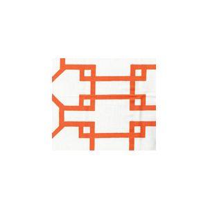 300403WSUN BRIGHTON Orange Quadrille Fabric