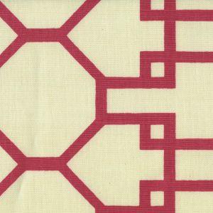 300405F BRIGHTON Magenta on Tint Quadrille Fabric