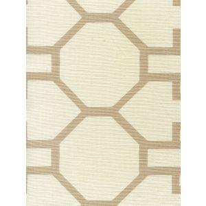 300400F BRIGHTON Taupe on Tint Quadrille Fabric