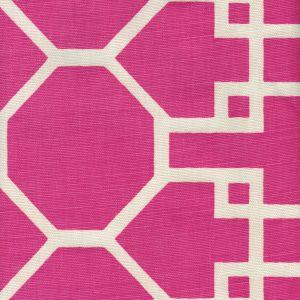 300425F BRIGHTON REVERSE Magenta on Tint Quadrille Fabric