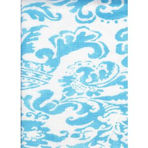 302848F BROMONTE New Blue on Tint Quadrille Fabric